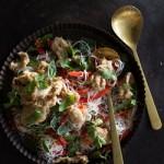 Recipe: Crispy Chicken on Asian Rice Noodle Salad