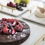 Recipe: Chocolate cake with stewed blood plums